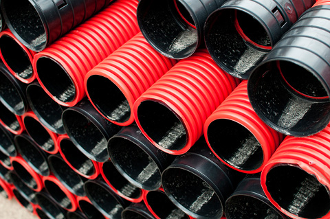 Hdpe corrugated cable pipes sanifix